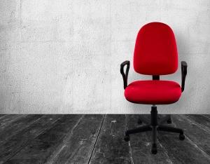 buero drehstuhl am Arbeitsplatz
