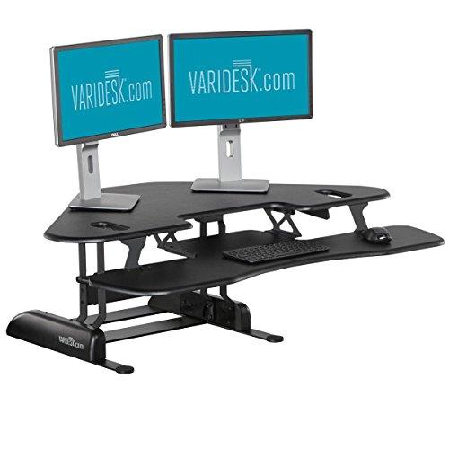VARIDESK Cube Corner 48 - Sitz-Steh-Schreibtisch