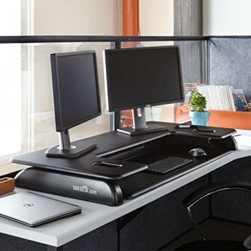 VARIDESK Cube Plus 48 Sitz-Steh-Schreibtisch - Steharbeitsplatz heruntergefahrene Version