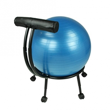 Carnegie Ball Chair - Bürostuhl-Sitzball-Kombi Seitenansicht