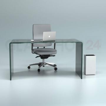 Design Schreibtisch aus 15mm Echtglas Bild 2