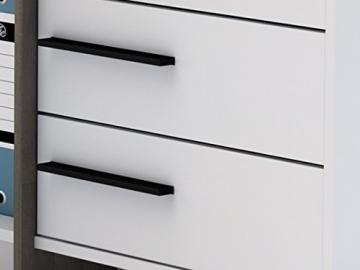 Detailansicht Schubladen Eckschreibtisch