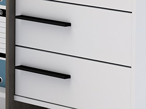 """Detailansicht Schubladen Eckschreibtisch """"Thales"""" Arbeitstisch Bürotisch Computertisch"""