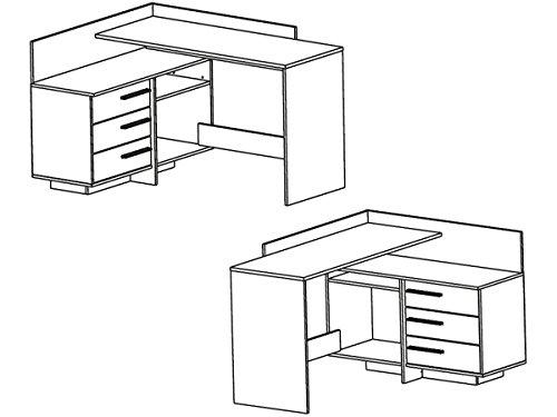 """Skizze vom Eckschreibtisch """"Thales"""" Arbeitstisch Bürotisch Computertisch"""