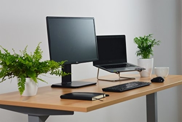 Ergotopia Elektrisch höhenverstellbarer Schreibtisch 5 Jahre Garantie | Ergonomischer Steh-Sitz Tisch mit Memory Funktion | Beugt Rückenschmerzen vor & Macht produktiver (160 x 80 cm, Buche) - 3
