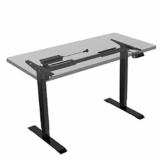 Flexispot E1B Höhenverstellbarer Schreibtisch Elektrisch höhenverstellbares Tischgestell 2-Fach-Teleskop, mit Memory-Steuerung (Schwarz) - 1