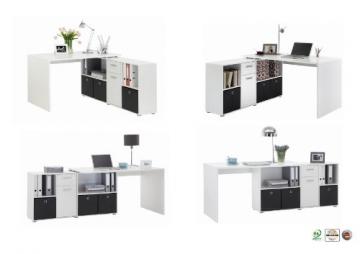 FMD Möbel Winkelkombination LEX Schreibtisch verschiedene Varianten