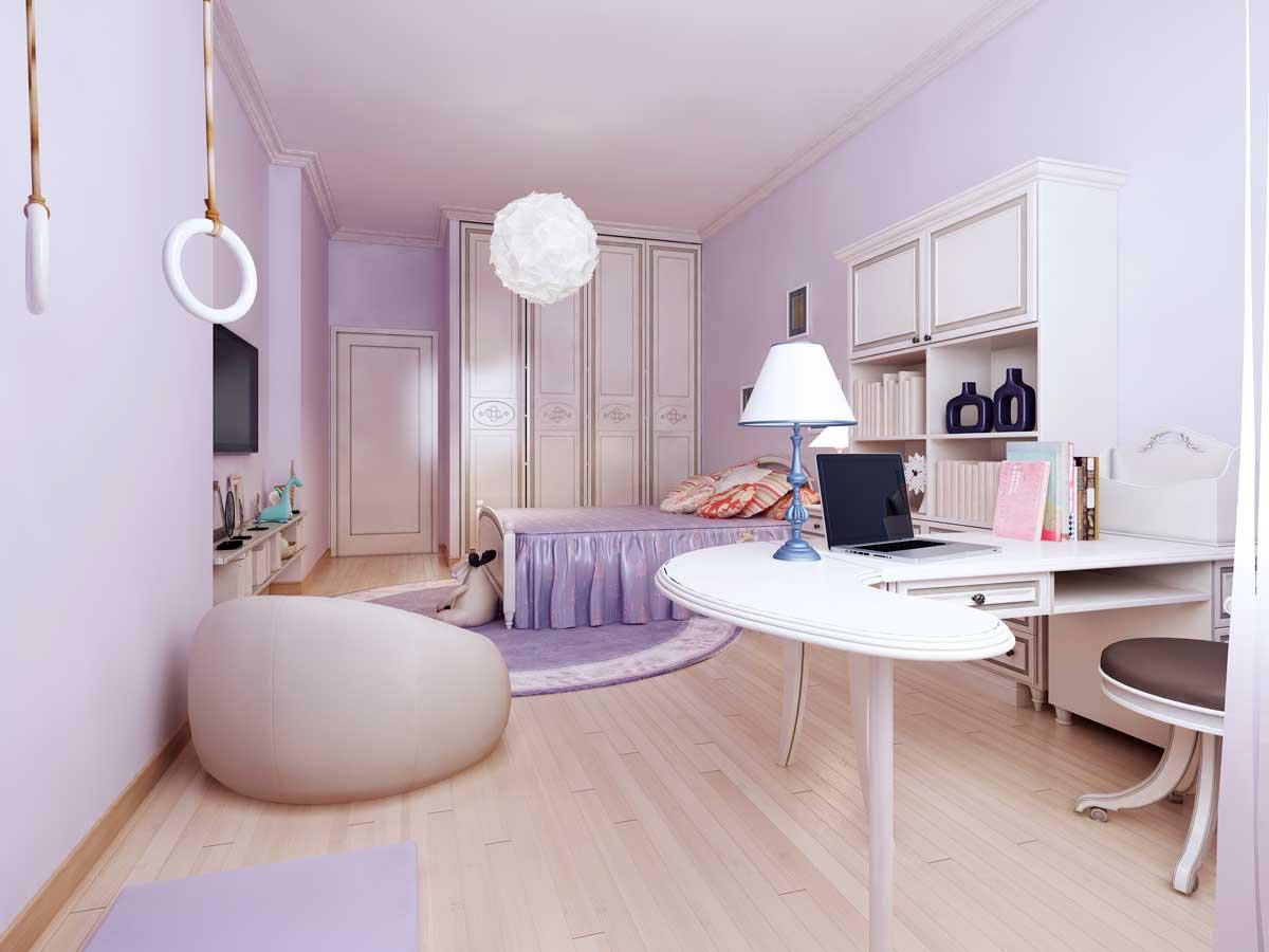Jugendstil Schreibtisch im Zimmer