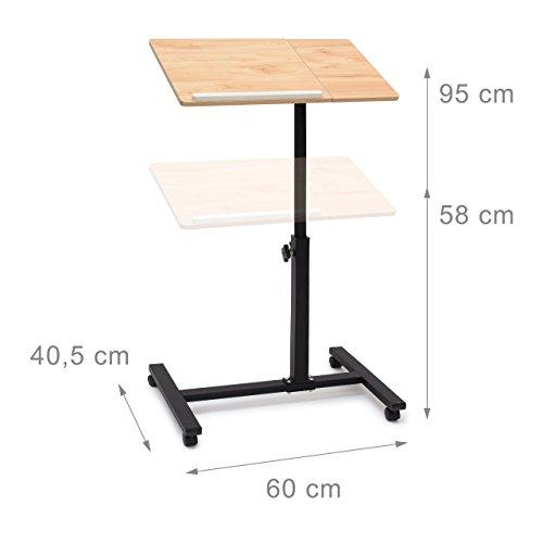 relaxdays-laptoptisch-hoehenverstellbar-h-x-b-x-t-95-x-60-x-405-cm-sofatisch-beistelltisch-mit-rollen-samt-bremsen-fuer-notebook-mit-ablage-fuer-maus-hochglanz-lackiert-mit-antirutsch-leiste-eiche